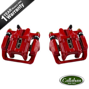 Rear Red Powder Coated Brake Calipers For Acura Cl Tl Honda Element