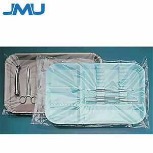500 box Dental B Tray Sleeve Disposable Clear Plastic Cover 10 5 X 14