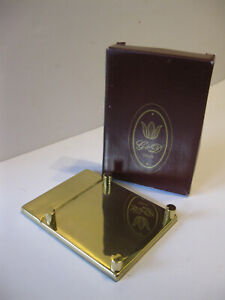 Brass Desktop Post It Notes memo Pad Holder G D Brand Made In Spain New Boxed