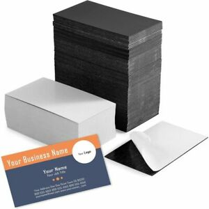 Self Adhesive Business Card Magnets With White Cards Peel And Stick 200 Pack