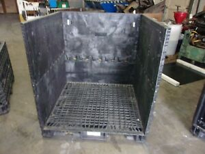 45x48x50 3 sided Plastic Collaspable Stackable Folding Gaylord Shipping Crates