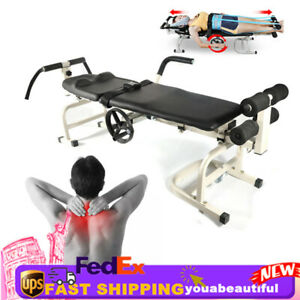 Traction Stretching Bed Leg Shoulder Therapy Table Cervical Spine Lumbar Device