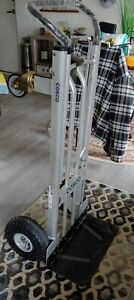 Cosco 2 in 1 Aluminum Hand Truck assisted Hand Truck cart W Flat Free Wheels 80