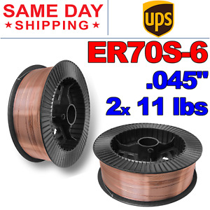 Er70s 6 045 1 2 Mm Mild Steel Mig Welding Wire 11 Lbs 2 Rolls