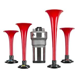 Wolo 445 4 Trumpet Red Call To The Post Musical Air Horn