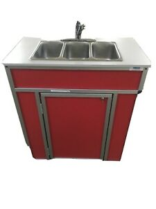 3 Compartment Indoor outdoor Portable Sink For Washing Hands cleaning Utensil