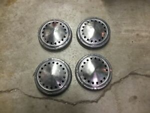 Chrysler Plymouth Dodge Police Hubcaps 9 Dog Dish Mopar
