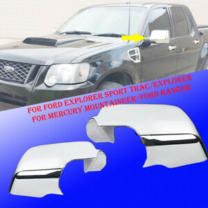 For 2006 2007 2008 2009 2010 Mercury Mountaineer Chrome Mirror Cover Set Abs