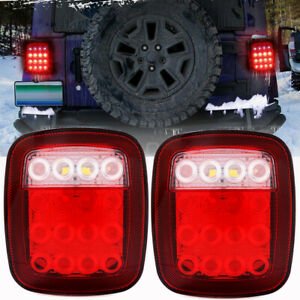 For Jeep Wrangler Tj Cj 76 06 Led Tail Lights Rear Brake Lamps Stop Reverse