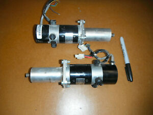 Lot Of 2 Dc Servo Motors Aw Encoders And Gear Reducers 2029
