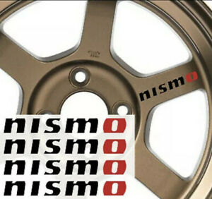 Nismo Nissan Rim Wheel Trunk Car Quality Decal Sticker Vinyl 4 Set Of Four