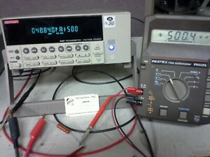 Keithley 6487 Picoammeter Tested With Triaxial Cable Internal 0 To 500v Source