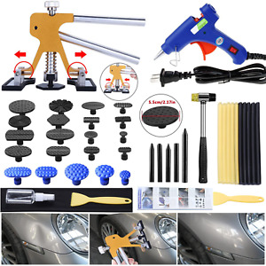 Gliston Auto Dent Puller Kit Adjustable Golden Dent Remover Tools Paintless De