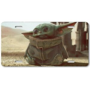 The Child Baby Yoda Abstract Art Aluminum Car Auto Home Novelty License Plate
