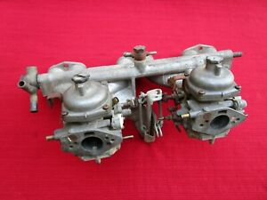 Matched Pair Zenith Stromberg 150 Cd Carburetors Intake Manifold Triumph Gt6