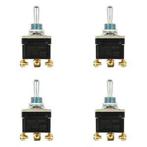 4pcs Waterproof Toggle Switch 3 Terminal 3pin on off on Spdt 15a 250v
