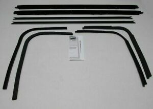 1971 1976 Chevy Impala Custom Coupe Window Beltline Weatherstrip Kit 8 Pieces