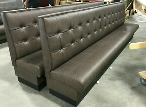 Commercial Restaurant Booth Furniture wall Bench In Button Back Style