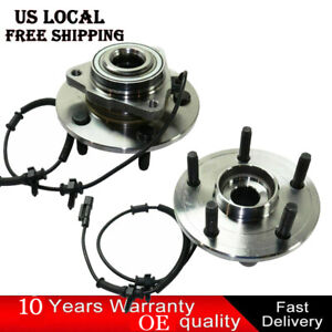 2 Pack Front Wheel Bearing Hub Assembly For 2012 2013 2014 2018 Dodge Ram 1500