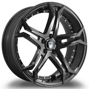 Qty4 staggered Marquee M3284 20x9 10 5 5x115 15 Gloss Black