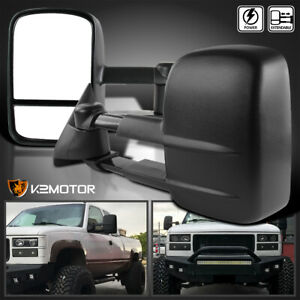 For 88 98 Chevy Gmc C K 1500 2500 3500 Power Towing Tow Side Mirrors Left Right