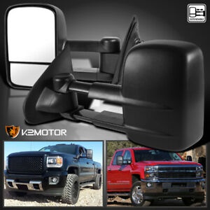 For 2014 2018 Chevy Silverado Sierra Manual Extend Side Tow Mirrors Left right