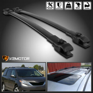 For 2011 2018 Toyota Sienna Aluminum Car Roof Top Cross Bar Luggage Cargo Rack
