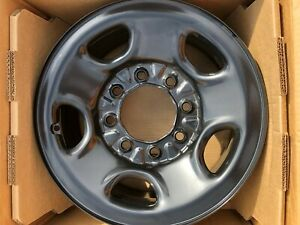 Gm Steel 8 Lug 16 5 Black Chevy Rims