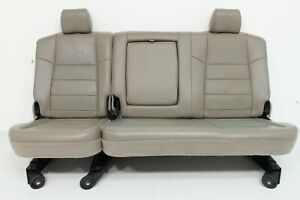 Ford Super Duty Crew Cab Supercrew Leather Rear Seat Stone 2008 2009 2010