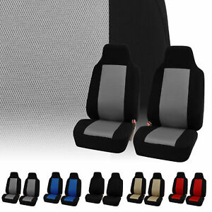 Fabric Mesh Style Pair High back Bucket Seat Covers