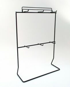 Black Metal Jewelry Display Stand For Necklaces Bracelets 6 Hooks 1 5 Deep
