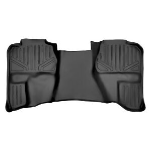 Smartliner Floor Mats Liner For Chevy Extended Trucks Second Row Black