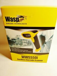 Wasp Wws550i Freedom Cordless Barcode Scanner Parts Software And Manual Only