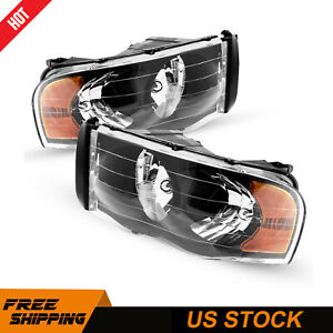 For 2001 2004 Toyota Tacoma Torchbeam Replacement Black Headlight Assembly