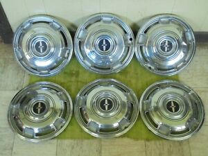 68 69 70 Chevrolet Camaro Hubcaps 14 Set Of 6 Chevy Wheel Covers 1968 1969 1970