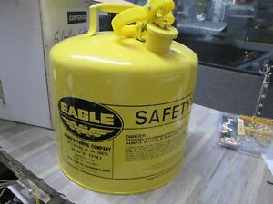 Eagle Ui 50 sy Yellow Type 1 Safety Diesel Fuel Can New