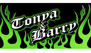Personalized Monogrammed Custom License Plate Auto Car Tag Flames Green