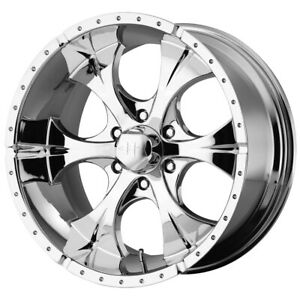 4 helo He791 Maxx 17x9 6x5 5 18mm Chrome Wheels Rims 17 Inch