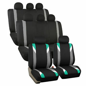 3 Row Car Seat Cover Set For Suv Minivan Mint With 8 Headrests