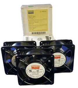 Lot Of 3 Dayton 105 Cfm Axial Fan 4wt47 115 Vac Used Ac Fan 3x
