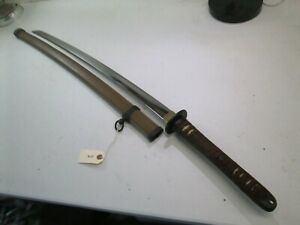 Late Wwii Japanese Officers Samurai Sword With Scabbard Unsigned Minty P343