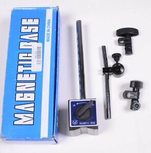 Magnetic Base Holder 87015 Adjustable Pole For Dial Indicator Test Gauge