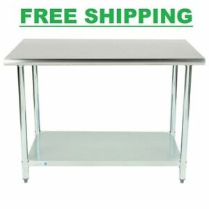 30 X 48 Stainless Steel Work Prep Table With Undershelf Kitchen 2 Upturn