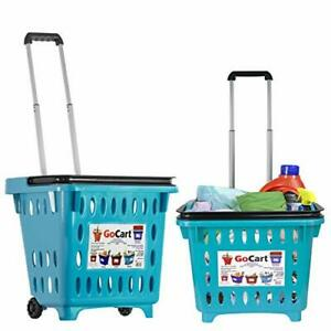 Shopping Basket set Of 5 Durable Red Plastic Metal Handles Industrial