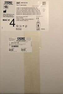 box Of 10 Karl Storz 051114 01 C mac S Video Laryngoscope Blade Mac 4 Sealed