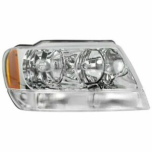 Rh Right Headlamp Limited Overland Fits 1999 2004 Jeep Grand Cherokee Limited