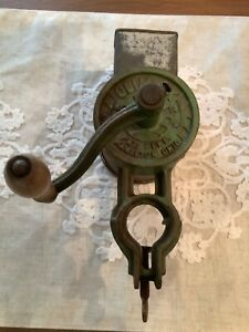 Primitive Climax Antique Meat Grinder Grater Food Chopper Green Hamilton Oh