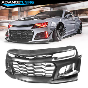 Fits 14 15 Chevy Camaro 5th To 6th Gen 1le Style Front Bumper Conversion Kit