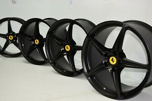 20 Ferrari 458 Italia Forged Lightweight Black Factory Oem Wheels Rims 20 Inch