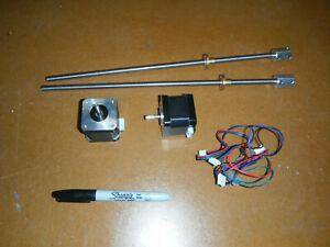 Lot Of 2 Nema 17 Stepper Motors With Acme Shafts 5466
